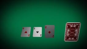 Naipes con la mano de póker stock de ilustración