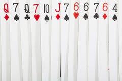 Naipes, conceptos del casino imagen de archivo libre de regalías