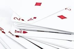 Naipes de la cartulina para los juegos de tarjeta Imágenes de archivo libres de regalías