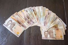 Naira, money from Nigeria Stock Photo