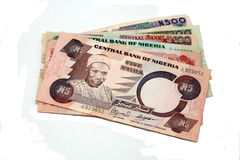 Naira nigérien, d'isolement. Photographie stock