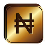 Nairas currency symbol icon Stock Image