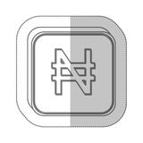 Nairas currency symbol icon Stock Photo