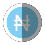 Nairas currency symbol icon Royalty Free Stock Photos