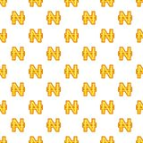 Nairas currency symbol pattern, cartoon style. Nairas currency symbol pattern. Cartoon illustration of nairas currency symbol vector pattern for web Royalty Free Stock Images