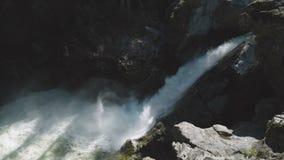 Nairn Falls, Pemberton, British Columbia, Canada stock footage