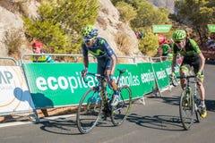 Nairo Quintana durante il giro della Spagna Immagini Stock