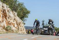 Nairo Quintana, experimentação individual do tempo - Tour de France 2016 Fotos de Stock