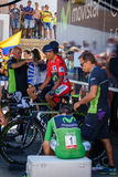 Nairo Quintana, Movistar team Royalty Free Stock Images