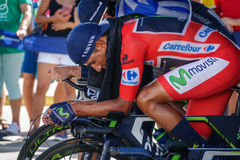Nairo Quintana, Movistar team Royalty Free Stock Photo