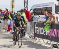 Nairo Quintana na Mont Ventoux - tour de france 2013 fotografia royalty free