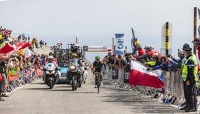 Nairo Quintana op Mont Ventoux - Ronde van Frankrijk 2013 Stock Foto's