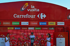 Nairo Quintana On The Podium Royalty Free Stock Photos