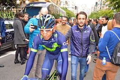 Nairo Quintana Team Movistar Rider Royalty Free Stock Photos