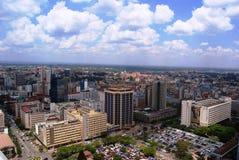 Nairobi from above. Aerial view of Nairobi the capital city of Kenya Royalty Free Stock Image
