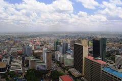 Nairobi from above. Aerial view of Nairobi the capital city of Kenya Royalty Free Stock Photography