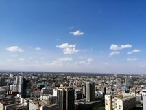 Nairobi aerial view royalty free stock photography