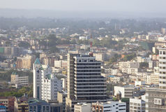 Nairobi affärsområde, Kenya, ledare Arkivbild