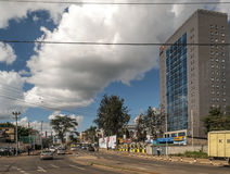 Nairobi. Cars through the capital of kenya, nairobi. It is an image on a sunny day. The picture was taken in May 2014 stock images