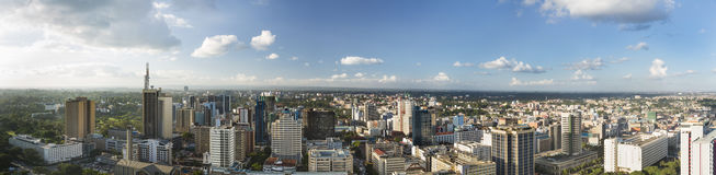 Nairobi Center Panorama, Kenya Stock Image