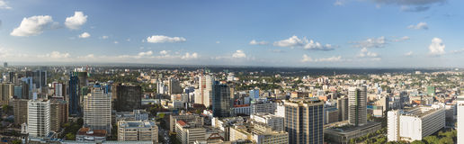 Nairobi City Panorama, Kenya Stock Images