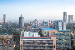 Nairobi cityscape - capital city of Kenya. Modern Nairobi cityscape - capital city of Kenya, East Africa Royalty Free Stock Photo