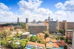 Nairobi cityscape - huvudstad av Kenya Arkivfoton