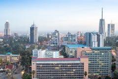 Nairobi cityscape - huvudstad av Kenya Royaltyfri Foto