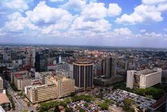 Nairobi desde arriba Imagen de archivo libre de regalías