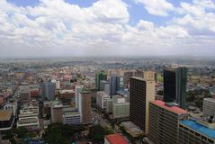 Nairobi desde arriba Fotografía de archivo libre de regalías