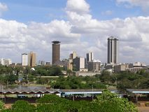 Nairobi downtown Royalty Free Stock Photography