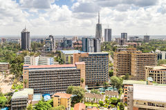 Nairobi du centre - capitale du Kenya Photographie stock libre de droits