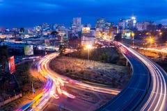 Nairobi horisont Arkivfoto