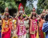 Nairobi, Kenia 14 augustus 2017: Traditioneel Indisch prehuwelijksritueel - Jaggo-ceremonie royalty-vrije stock foto's