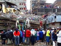 Nairobi-Kenia, eingestürztes Errichten Stockfotografie
