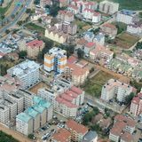 Nairobi, Kenya aerial view. Aerial cityscape of Nairobi, Kenya, in an affluent district royalty free stock photography