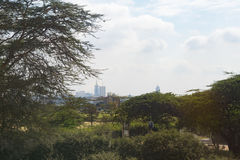 Nairobi Kenya, Africa city town suburb countryside road Royalty Free Stock Photography
