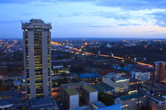 Nairobi Kenya at Night Royalty Free Stock Images