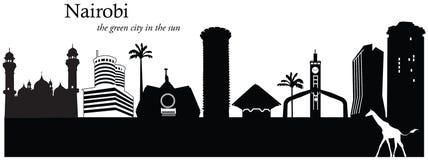 Nairobi, Kenya. Vector illustration of the skyline cityscape of Nairobi, Kenya Stock Images