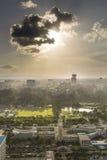 Nairobi mitt och Uhuru Park, Kenya Arkivfoto