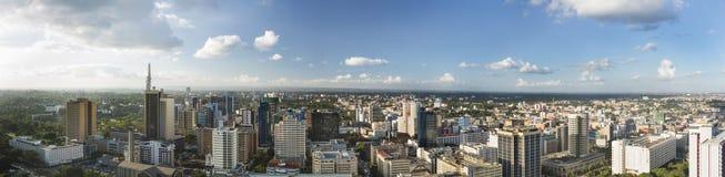 Nairobi-Mitte-Panorama, Kenia stockbild
