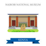 Nairobi National Museum in Kenya flat vector illus. Nairobi National Museum in Kenya. Flat cartoon style historic sight showplace attraction web site vector Royalty Free Stock Photo