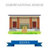 Nairobi National Museum in Kenya flat vector illus Royalty Free Stock Photo
