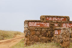 Nairobi National Park Road Sign Stock Images
