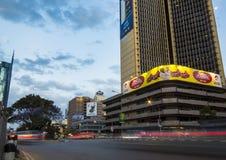 Nairobi på skymning Royaltyfria Foton