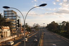 Nairobi roads and streets. New Thika Superhighway in Kenya Royalty Free Stock Images