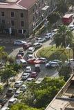 Nairobi rusningstid, Kenya, ledare Arkivbilder