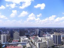 Nairobi sky view Royalty Free Stock Images