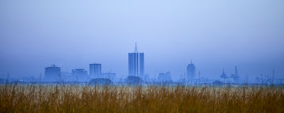 Nairobi skyline before dawn Royalty Free Stock Photos