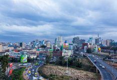 Nairobi Skyline Stock Image
